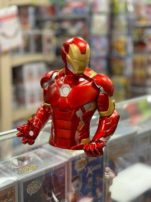 "Marvel Metallic Color Iron Man 8x7x5"" Coin/Bust Bank Christmas Birthday Gift"