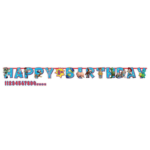 Toy Story 4 -  Add an Age Happy Birthday Jumbo Letter Banner Kit