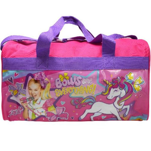 JOJO SIWA 600D Polyester Pink Duffle Bag PVC with Side Panels
