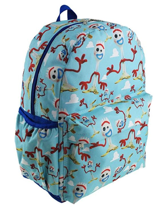 "Toy Story 4: Forky - All over Print 16"" Canvas Baby Blue Backpack"
