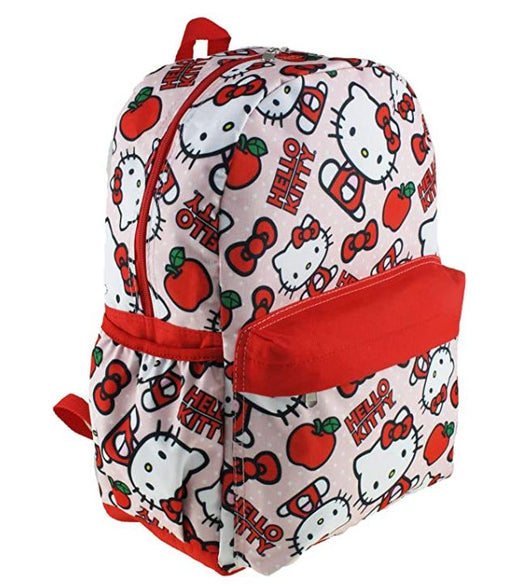 "Hello Kitty - All over Print 16"" Canvas Red & White Backpack"