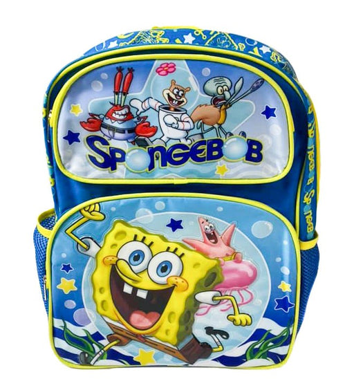 "SpongeBob Squarepants - 16"" Deluxe Full Size kids Boy Backpack"