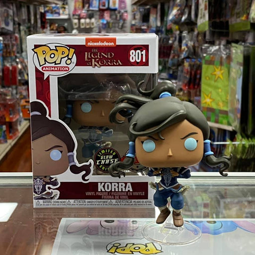 Funko Pop Legend of Korra - Korra Avatar State Hot Topic Exclusive Special Edition Sticker 1x Common + 1x Chase Vinyl Figure