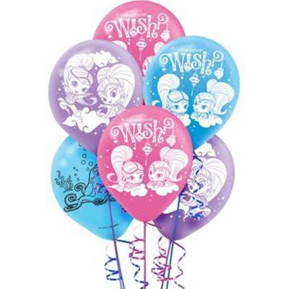 Shimmer And Shine Latex Balloons 6ct Birthday Party Supplies 12