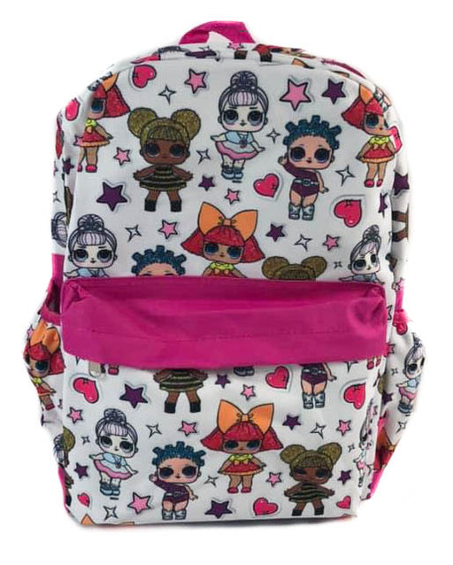 "L.O.L. Surprise! All over Print 16"" Canvas Pink & White Backpack"