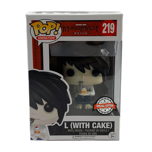 Funko Pop! Animation L (with cake) VINYL FIGURE #219 SPECIAL EDITION EXCLUSIVE