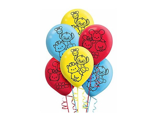 Tsum Tsum Latex Balloons (6ct) Birthday Party Supplies 12""