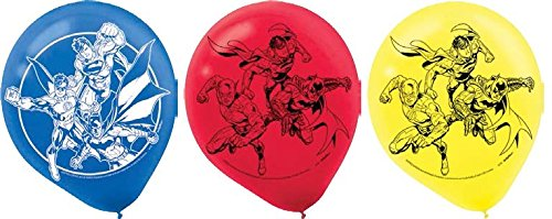 Justice League Latex Balloons (6ct) Birthday Party Supplies 12""