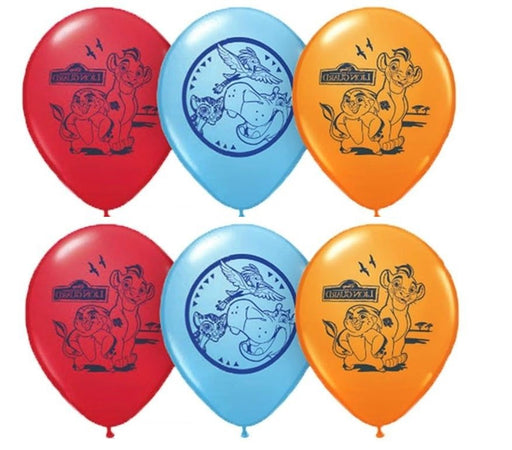 Lion Gurad Latex Balloons (6ct) Birthday Party Supplies 12""
