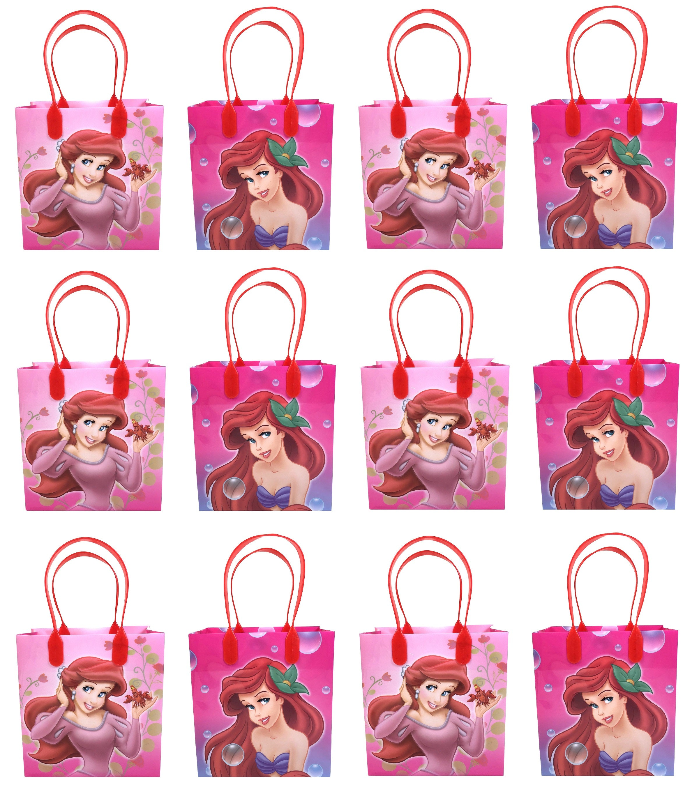 b78bfb7e98f Disney Ariel Little Mermaid Goody Bags Party Favors Gift Bags ...