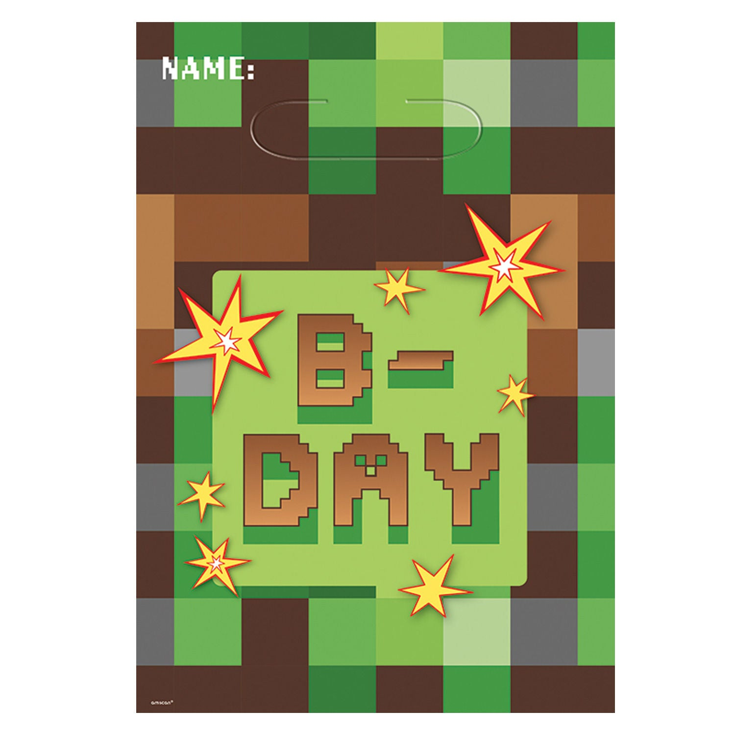 8 COUNTS TNT Minecraft Treat Favor Birthday Party Loot Gift Bags