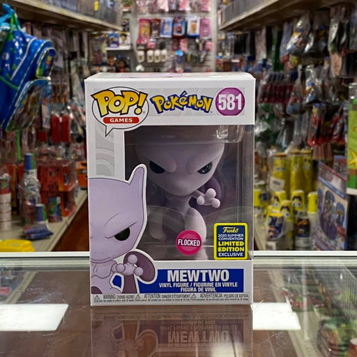 Funko Pop! Games #581 Pokemon Flocked Mewtwo (2020 Summer Convention Exclusive) Vinyl Figure