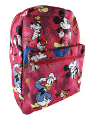Mickey & Friends Allover Print Backpack - Red