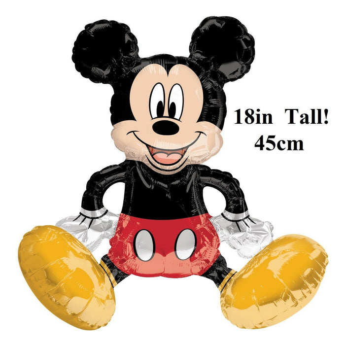 "Disney Sitting Mickey Mouse Air filled Balloon Table Decoration 18""in Tall 45cm"