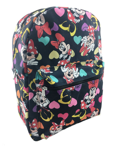 Minnie Mouse Allover Print Backpack - Black