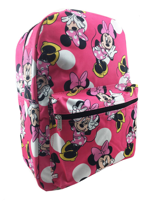 Minnie Mouse Allover Print Backpack - Pink