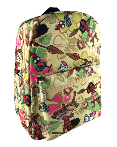 Moana Allover Print Backpack - Sand Yellow ON SALES!!!