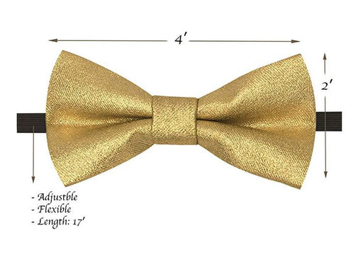 Kids Bow Ties - Toddler Metallic Gold Bow Tie