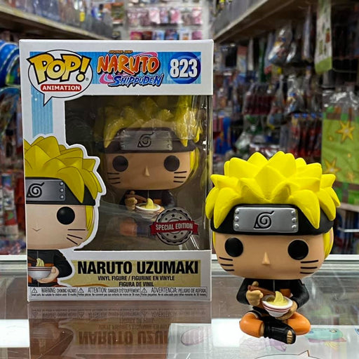 Funko Pop! Animation: Naruto - Naruto Uzumaki with noodle #823 Vinyl Figure Special Edition Sticker!