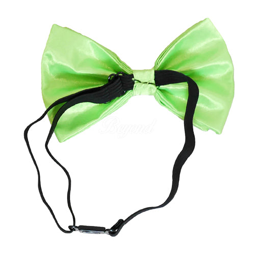 Neon Green Matching Set Suspender and Bow Tie
