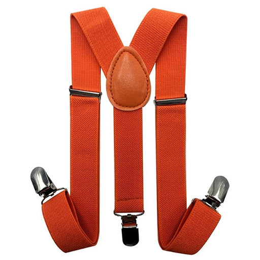 Kids Matching Set - Orange toddler Suspender and Bow Tie