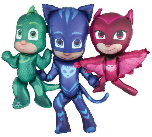 "One Giant Pjmasks Airwalker 57"" IN W X 50"" IN H"" Birthday Party Jumbo Balloon"
