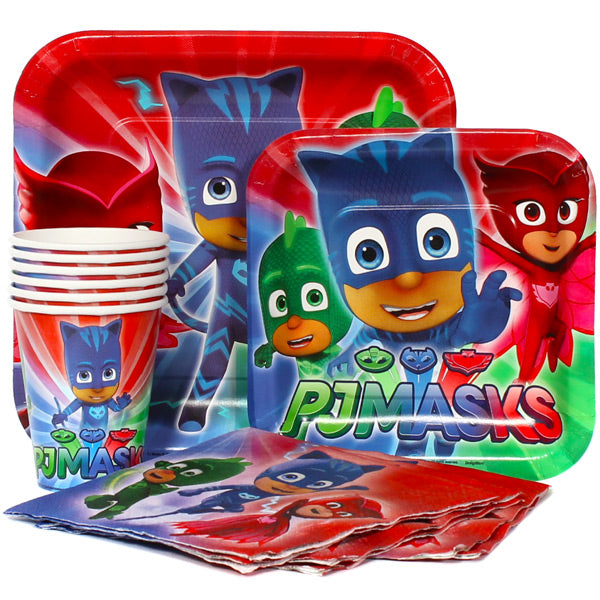 PJ Masks Party Express Pack for 8 Guests (Cups Napkins & Plates)