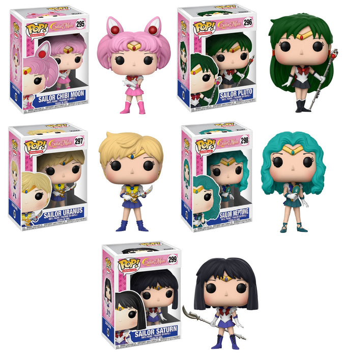 Pop Anime! Sailor Moon Wave 2 - Set of 5 Vinyl Figures w/Protector Case