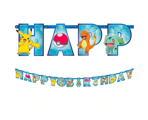 Pokemon Classic Personalized Birthday Banner Kit