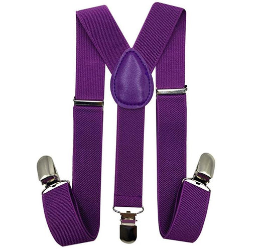 Kids Matching Set - Purple Toddler Suspender and Bow Tie