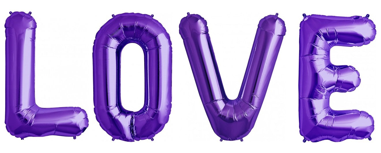 "Giant 34"" Mylar Purple Foil Letter Balloons **HELIUM/AIR ARE NOT INCLUDED**"