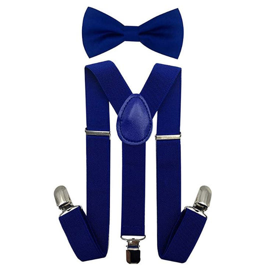 Kids Matching Set - Royal Blue Toddler Suspender and Bow Tie