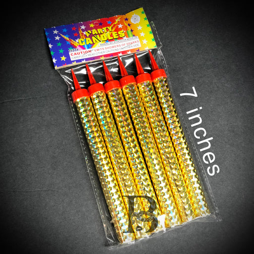 Birthday Candles Party Wedding Sparklers Gold Candles 7""