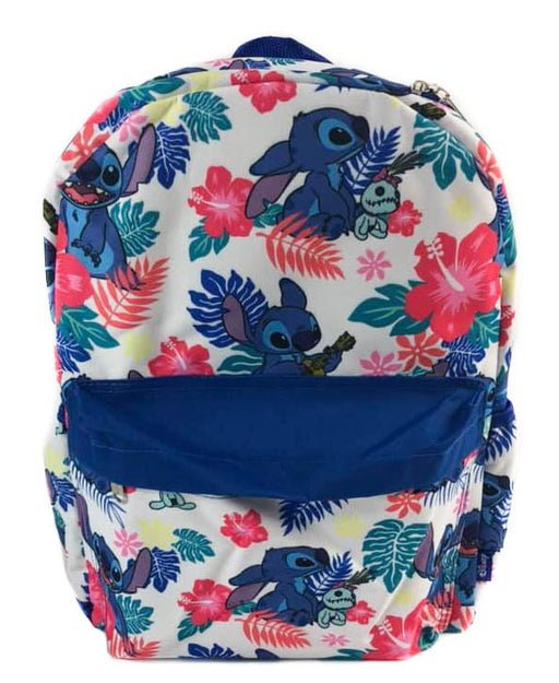 "Lilo and Stitch All over Print 16"" Backpack - White"