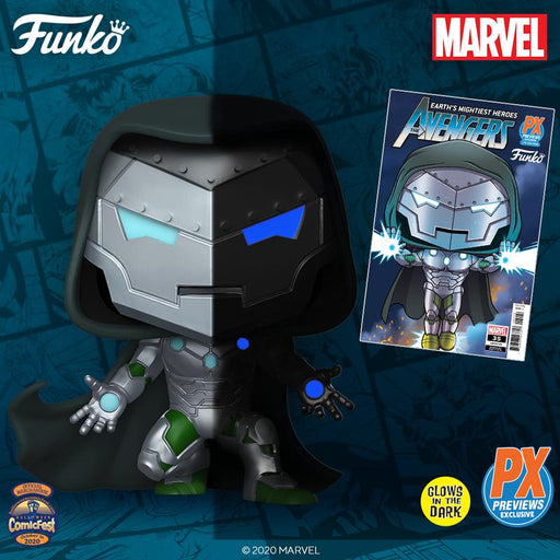 [PRE-ORDER] Funko Pop! Marvel Infamous Iron Man Pop! Vinyl Figure - PX Halloween ComicFest 2020 Exclusive + Comic Bundle
