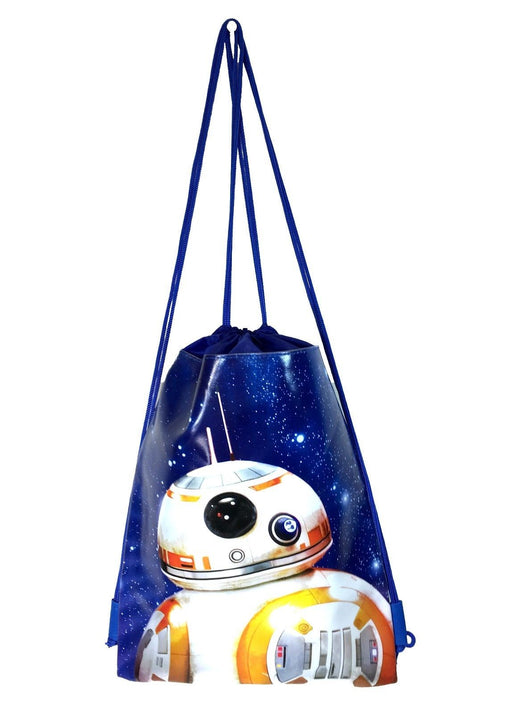 Star Wars BB-8 ROBOT Drawstring Backpack School Sport Blue Gym Bag
