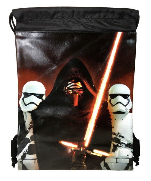 Star Wars Kylos Ren Drawstring Backpack School Sport Black Gym Bag