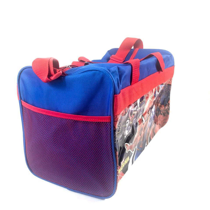 Marvel Spider-man 600D Polyester Blue & Red Duffle Bag PVC with Side Panels
