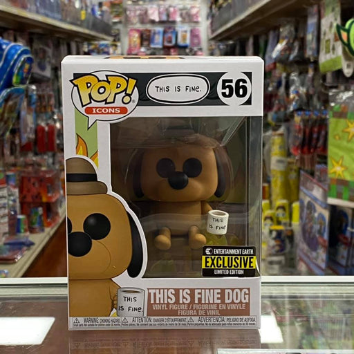 "Funko Pop! Icons ""THIS IS FINE DOG"" Vinyl Figure Entertainment Earth Exclusive"