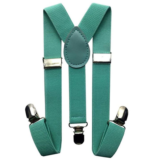 Kids Suspenders - Mint Green Teal Toddler Suspender