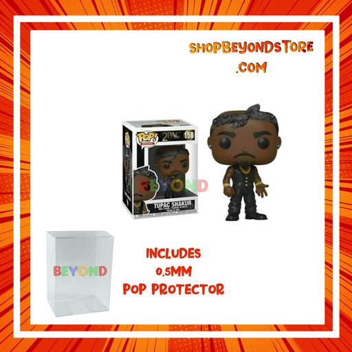 POP! Rocks: Tupac Shakur (Black Bandana) Vinyl Figure #158