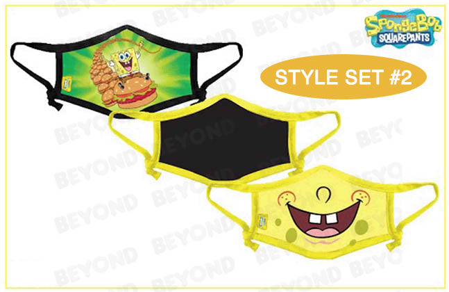 SPONGEBOB CLOTH FACE MASK 3 PACK - BURGER