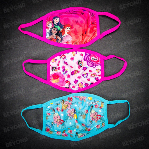 DISNEY CLOTH FACE MASK 3 PACK - PRINCESS