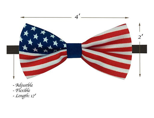 Kids Bow Ties - Toddler USA Flag July 4th Bow Tie