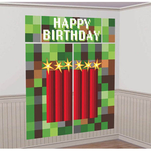 TNT Minecraft Wall Decorating Kit Happy Birthday (5pc) over 6 feet ~ Party Supplies