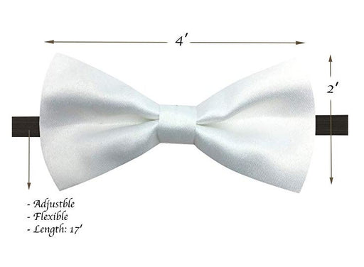 Kids Bow Ties - Toddler White Bow Tie