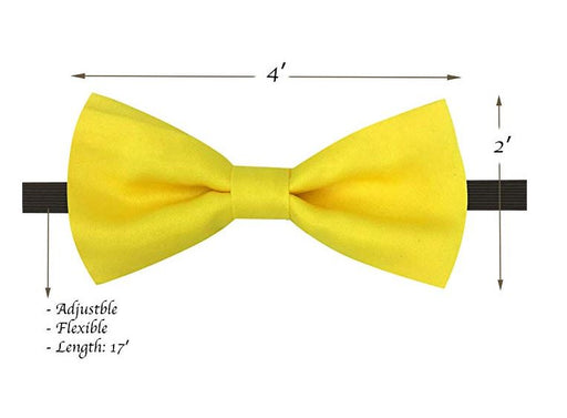 Kids Bow Ties - Toddler Yellow Bow Tie