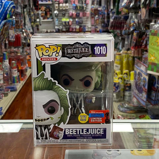 Funko POP! Beetlejuice Handbook of The Recently Deceased GITD NYCC 2020 Figure Shared Sticker