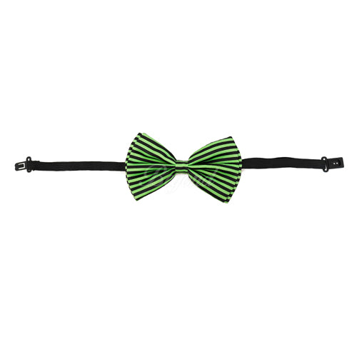 Adult Bow Ties - Halloween Green Stripe Bow Tie