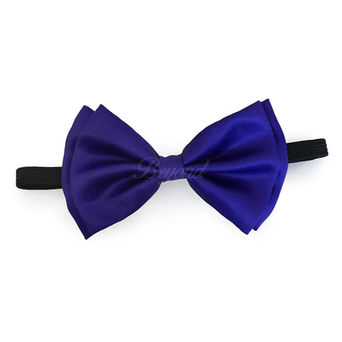 Royal Blue Matching Set Suspender and Bow Tie